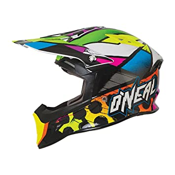 ONeal 10Series MX Helm GLITCH Schwarz Multi Gr. XS
