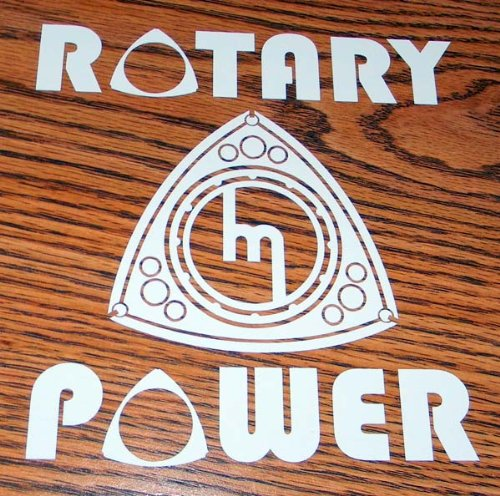 Rotary engine sticker
