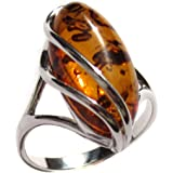Amber Collection and Sterling Silver Designer Ring