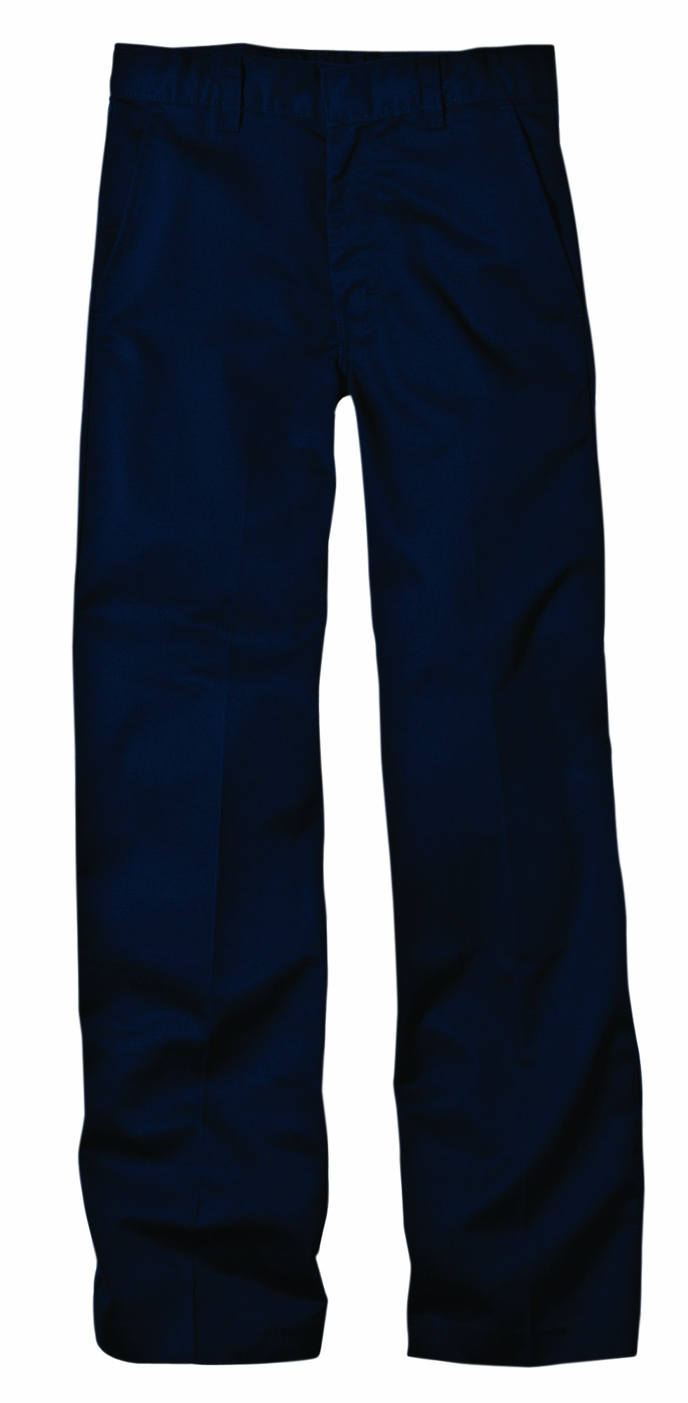 Dickies KP321 Boys' FlexWaist(tm) Flat Front Pant with Logo Dark Navy Size 18 Husky