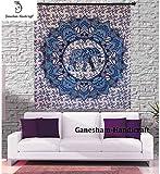 Indian Hippie Gypsy Dorm Decor Bohemian Tapestries Indian Tapestries Wall Decor Blanket Cotton Quilt Bedsheet Mandala Psychedelic Wall Elephant Tapestries Elephant Wall Decor Throws Bedspread