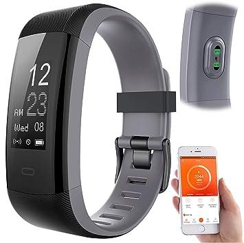 Newgen Medicals - Pulsómetro: Pulsera de fitness premium, pantalla ...