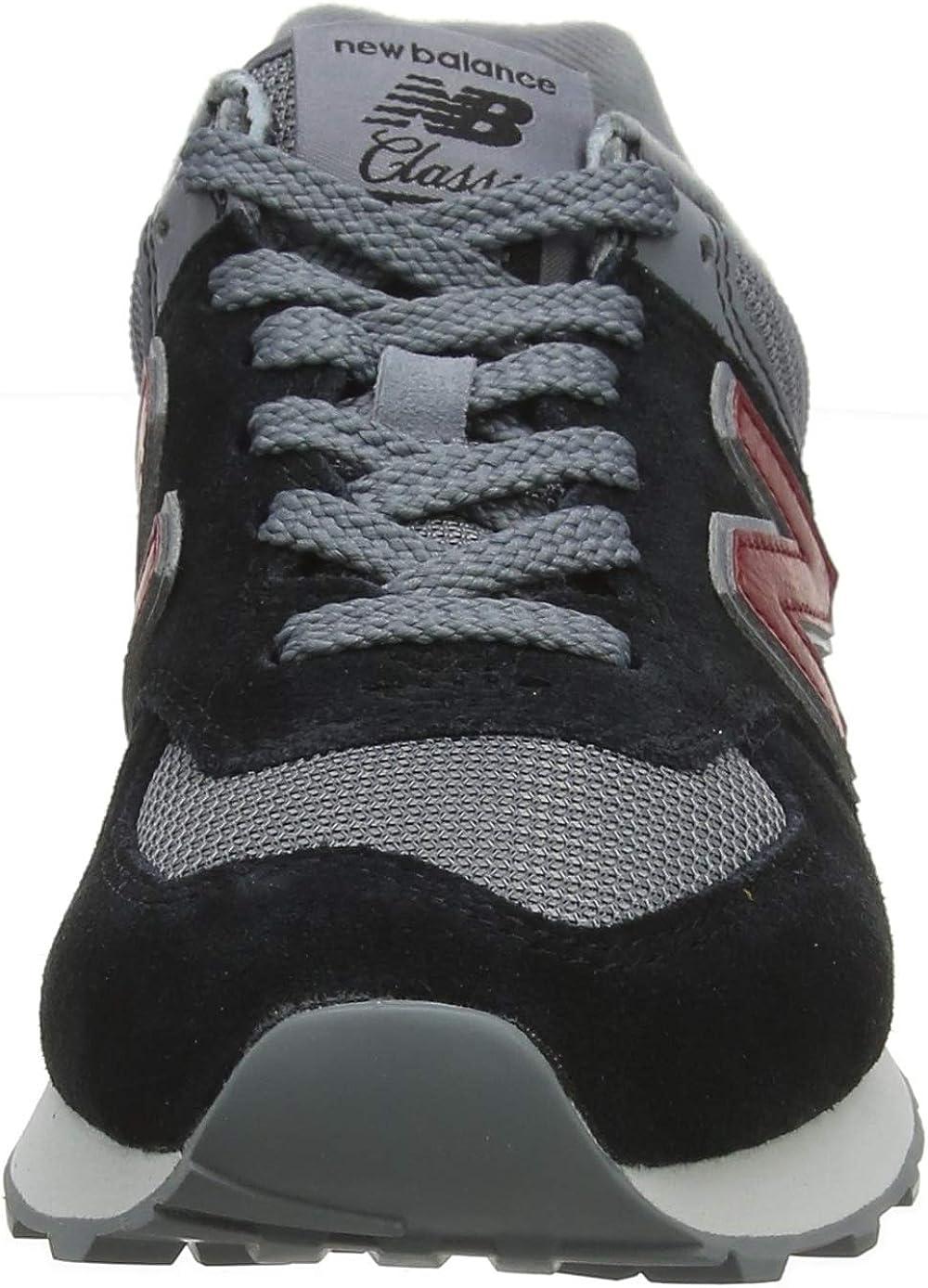 New Balance Herren 574v2 Sneaker Schwarz (Burgundy)