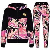 A2Z 4 Kids Girls Tracksuit Kids Designer's A2Z Camouflage Print Zipped Top & Bottom - T.S Camo 601 Baby Pink_13