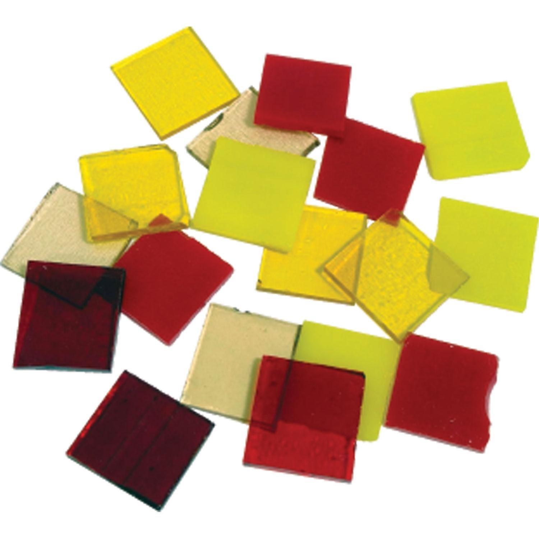 Fuseworks Warm Colors Squares 18 Piece Assortment - 90 COE Diamond Tech Intl