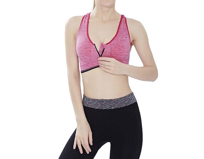 WKAIJCC Mujer Chaleco Deporte Ropa Interior Sujetador No Anillo De Acero Correa De Hombro Ajustable Sexy Y Palabra Cómodo, Pink-OneSize: Amazon.es: Ropa y ...
