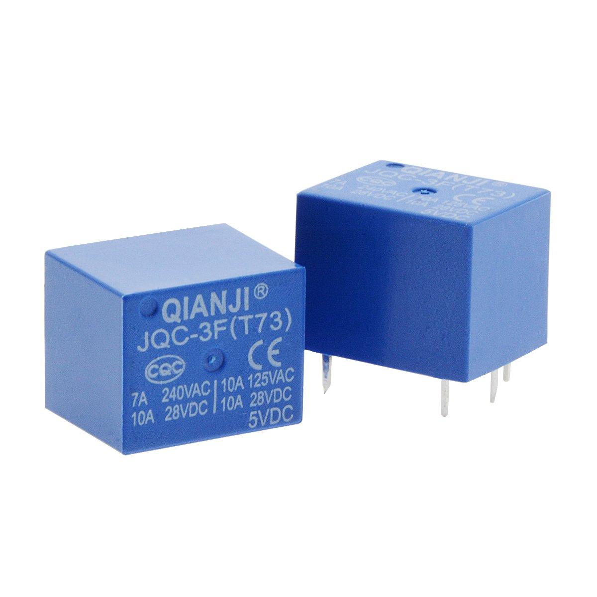 Saim DC 5/V bobina 5/pin mini rel/è di potenza SPST PCB tipo jqc-3/F 12/pz