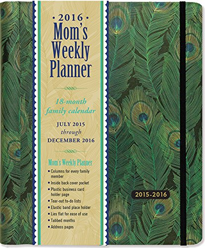 2016 Feathers Mom's Weekly Planner (18-Month Calendar, Family Calendar,...