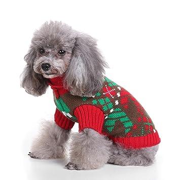 LongYu Suéter para Mascotas, Engrosamiento de Punto de Mascotas Ropa para Perros pequeños Cálido Chaleco