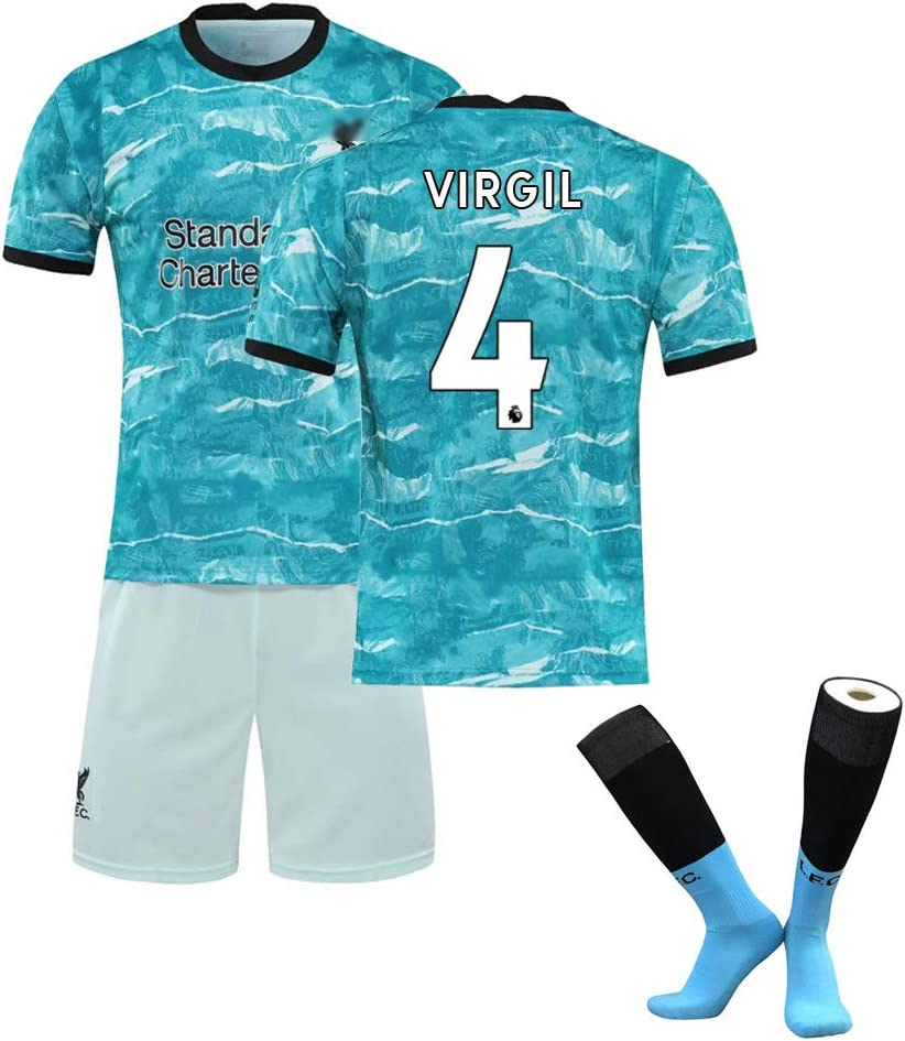 Sock Football Jersey 2021 Kids Youth Soccer Gift Set+Shorts Soccer Jersey with Short and Sock