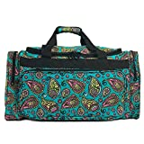 Allgala 23 in Duffel Bag, Paisley Turquoise-AE9523PL For Sale