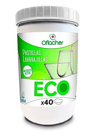 Pastillas ECO lavavajillas monocapa ecológica - Bote de 720g - 40 ...