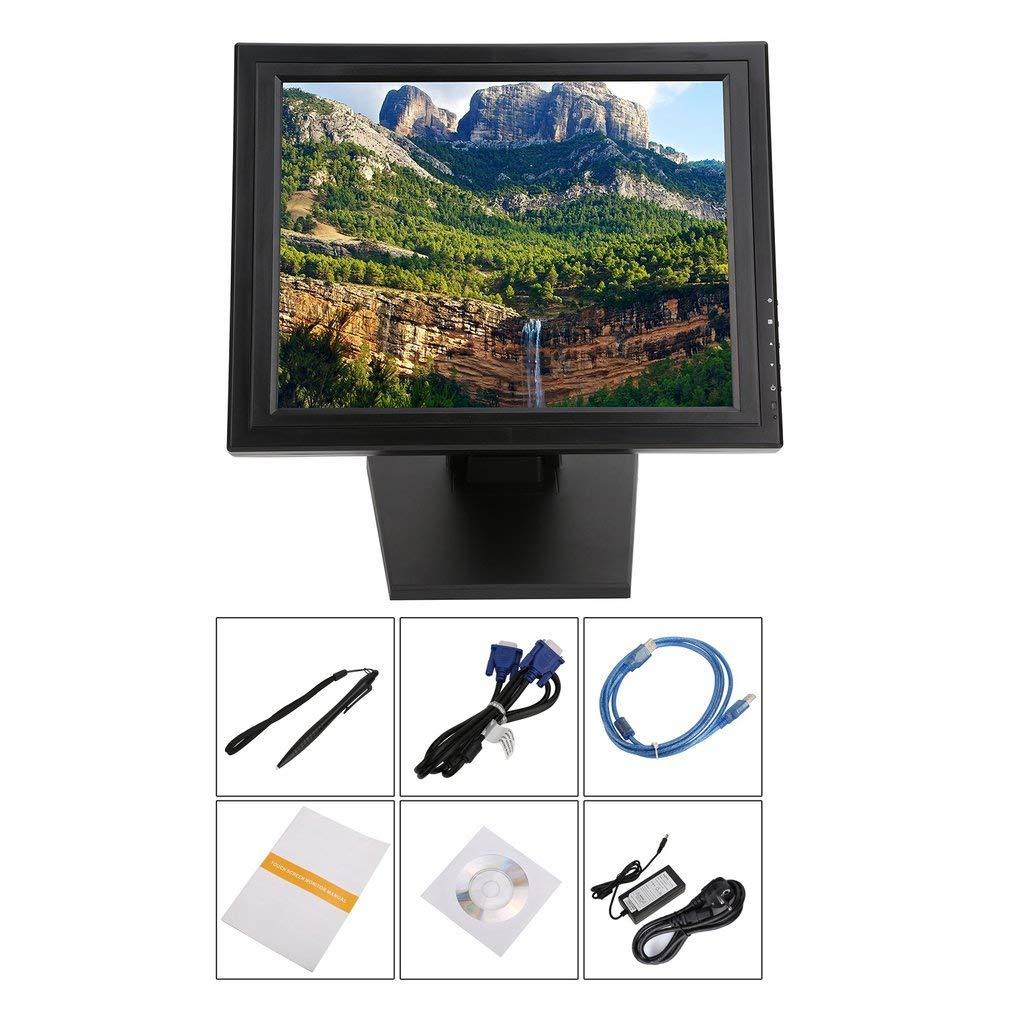 Dailyinshop 17 Inch LED POS TFT LCD Touchscreen Monitor 1024X768 for Retail Restaurant Bar,Black