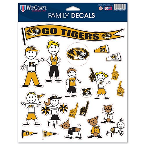 NCAA Missouri State Bears Family Decal Sheet,8.5 x 11-inches