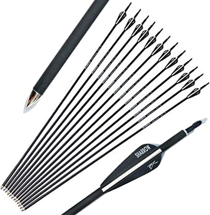12pcs white /& black arrow wraps for fletching carbon arrow SL