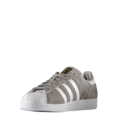 new products c74e3 d8e57 adidas Superstar Suede S75141 Adulte (Homme ou Femme) Chaussures de Sport,  Gris 38