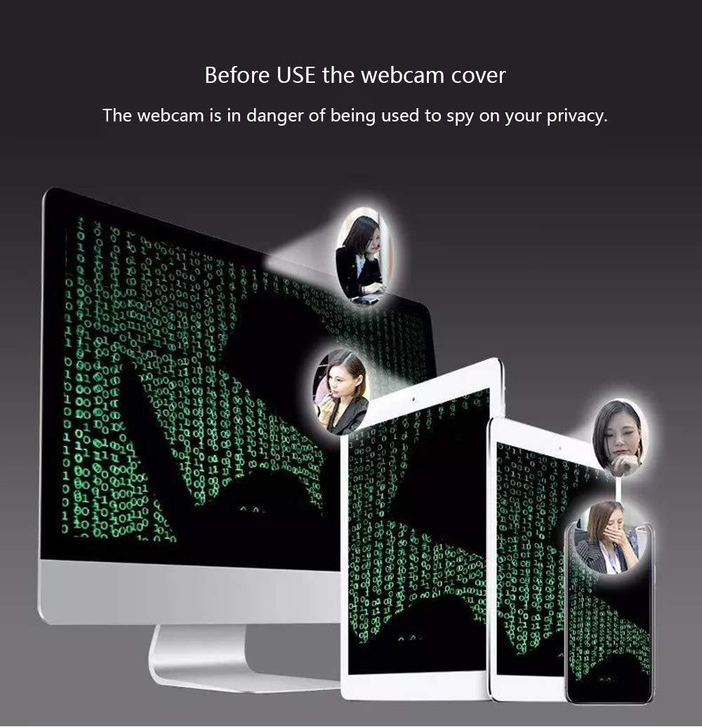 Festnight Webcam Cover Shutter Magnetic Slider Plastic Coperchio Universale per videocamera Voor per Web Laptop iPad PC Mac Tablet Privacy Sticker