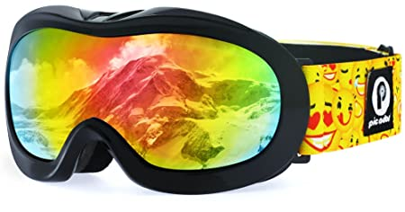 picador Kids Ski Goggles Excellent Impact Resistance Anti-Fog Lens 100 UV Protection Boys Girls