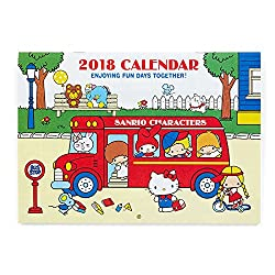 Sanrio Sanrio Characters Horizontal wall calendar M 2018 From Japan New