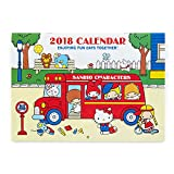 Sanrio Sanrio Characters Horizontal wall calendar M 2018 From Japan New