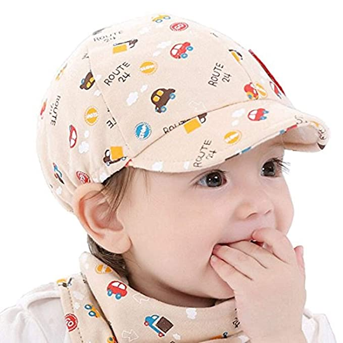 Ziory 1Pcs Beige Khaki Baby Kid Boy Girl Snapback Cartoon printing Toddler  Infant Hat Little Car Baseball Beret Cap Baby girls and Baby boys   Amazon.in  ... 8febe65810fc