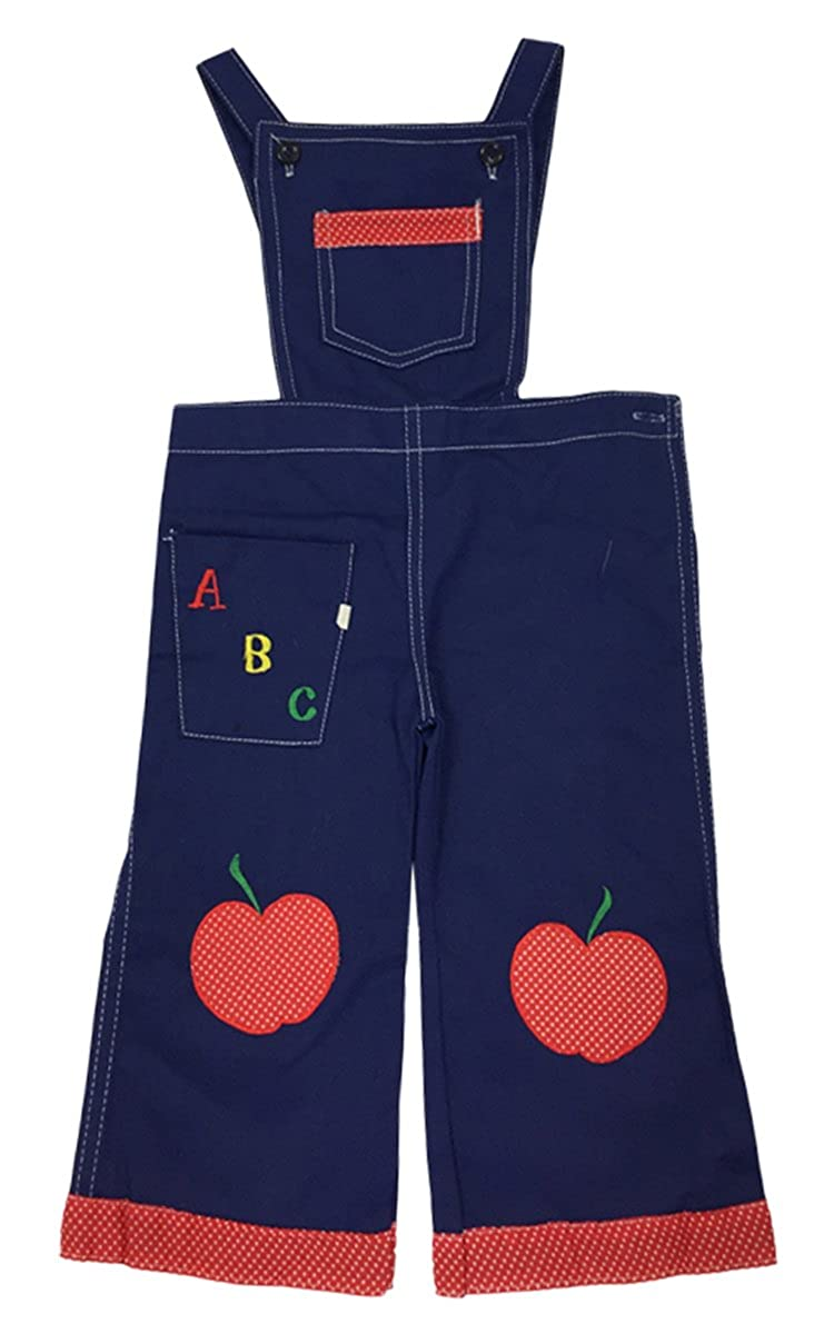 Boys Vintage ABC Pinspot Trim Apple Dungaree Toddler Pants Sizes from 1.5 to 3 Years