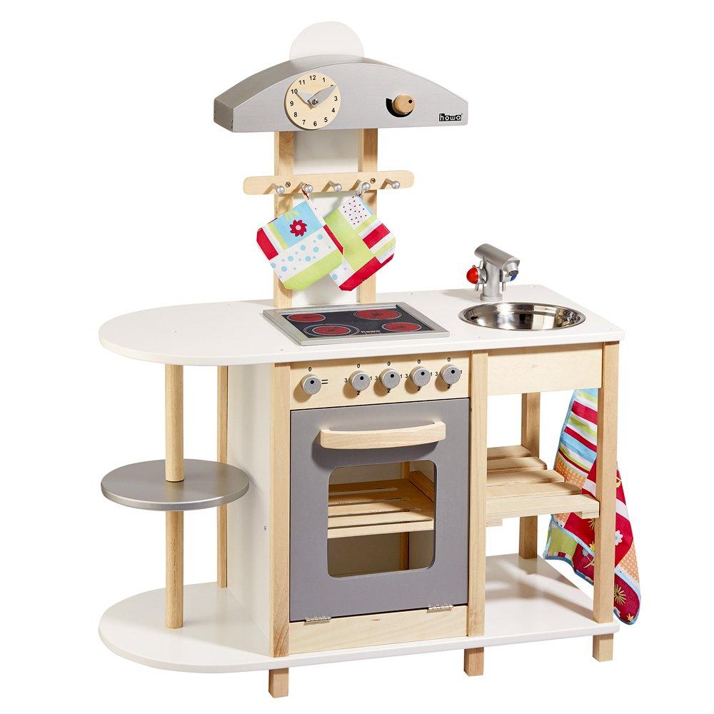 Spielküche Holz Weiß - Howa Kinderküche Deluxe