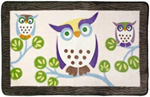 Allure Home Creations Awesome Owls Acrylic Printed Rug