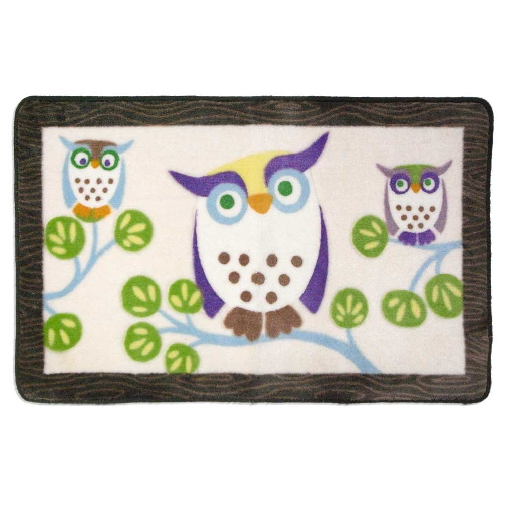Allure Home Creations Awesome Owls 100-Percent Cotton 3-Piece Towel Set AWOTS00