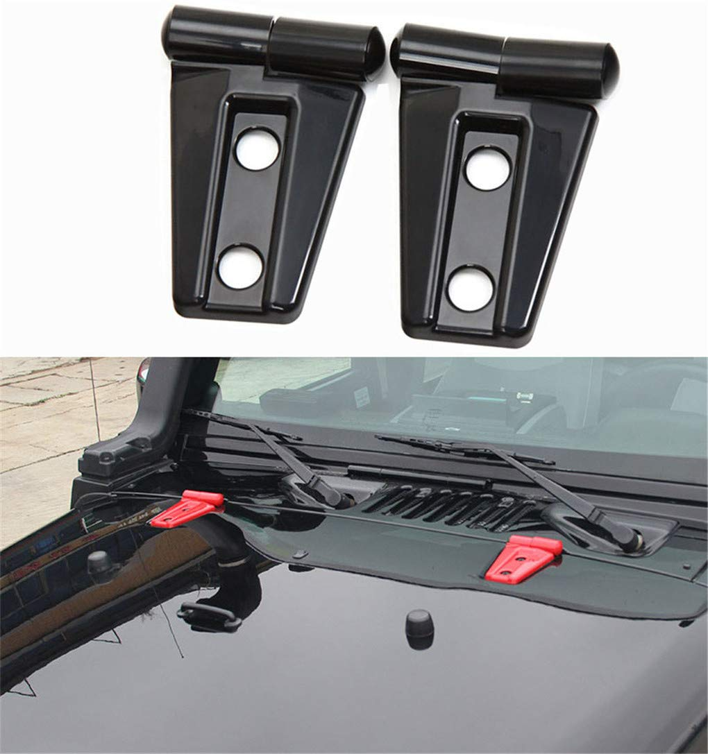2pack ABS Engine hood Hinge Cover Protector Adhesive Stick Molding Trim Kit