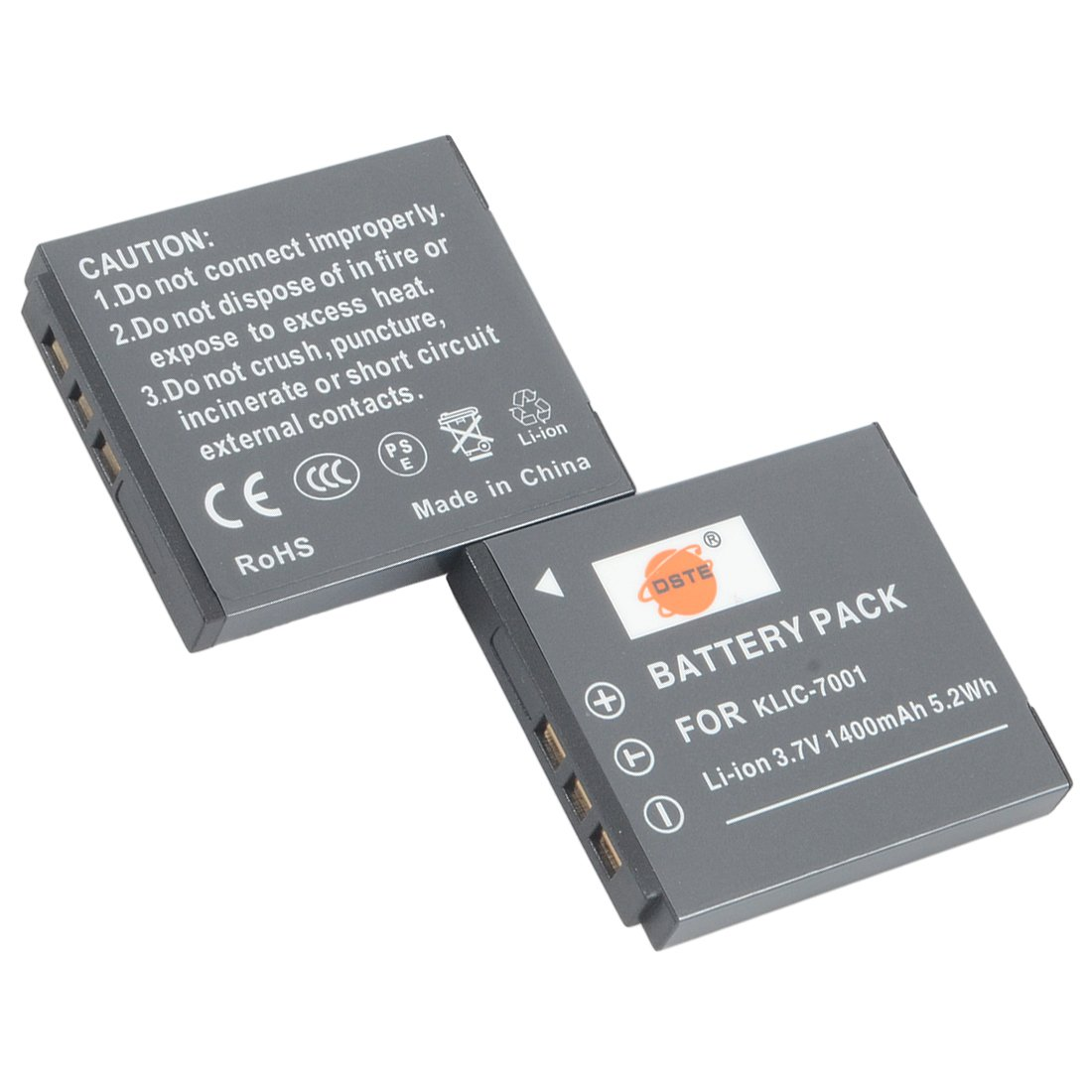 DSTE Replacement for 2X KLIC-7001 Li-ion Battery Compatible Kodak Easyshare V550 V570 V610 V705 M753 M763 M853 M863 M893 M1063 M1073 M340 M341 M320 M1013 is Camera
