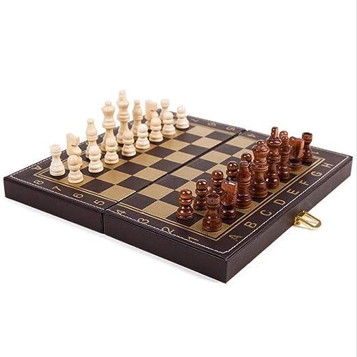 Bzsm Cuero Plegable Que doblan al Tablero de ajedrez Tablero de ...