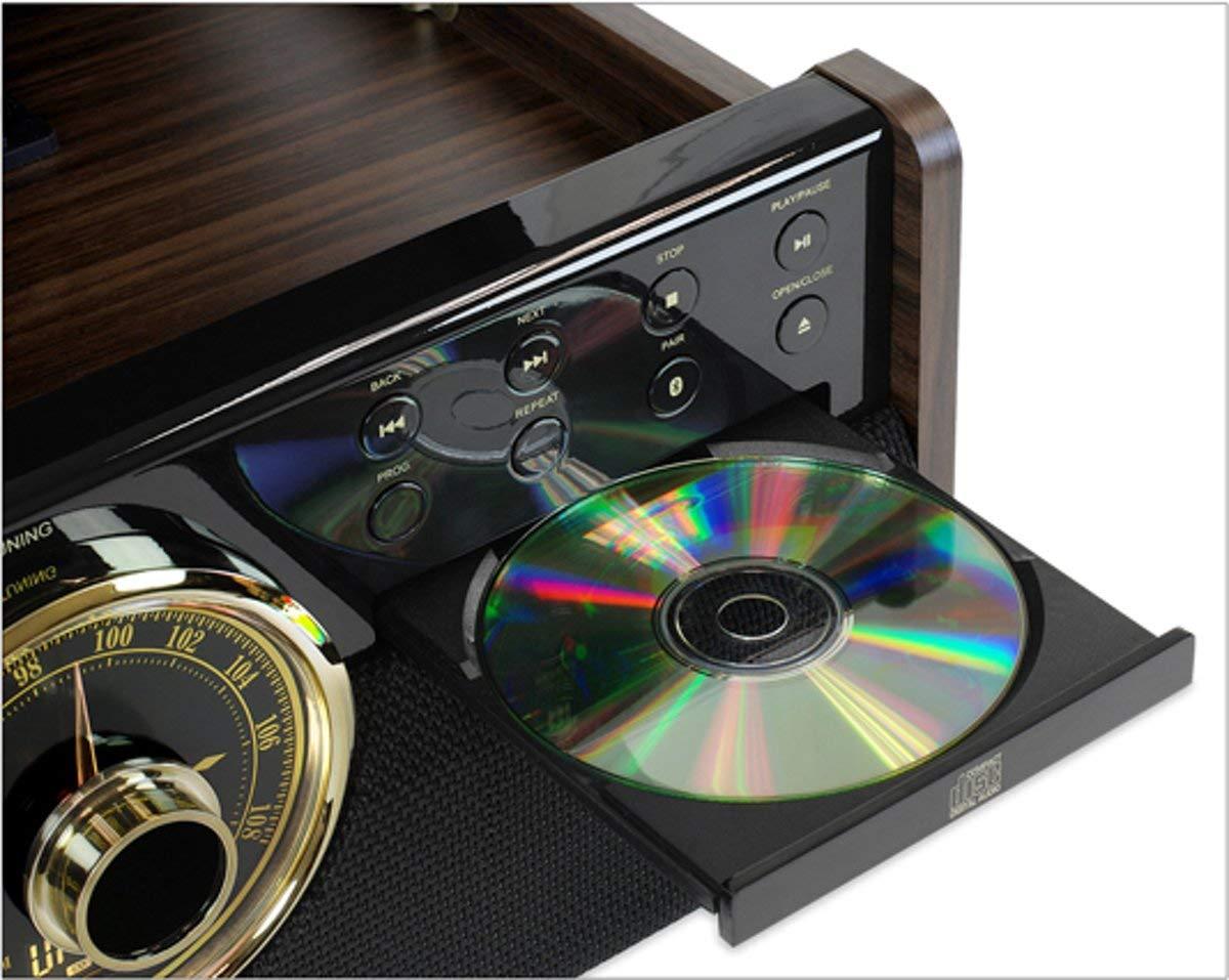 Victrola Empire Sistema de Sonido Tocadiscos 6-in-1 Bluetooth - Color Café