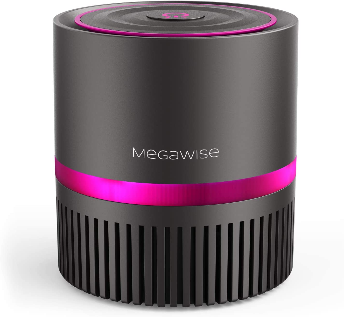 MEGAWISE Desktop Air Purifier for Home, Office and Bedroom, True HEPA Filter Air Cleaner With Optional Night Light for Allergies and Pets, Smoke, Dust, Mold, and Pollen, Available for California.