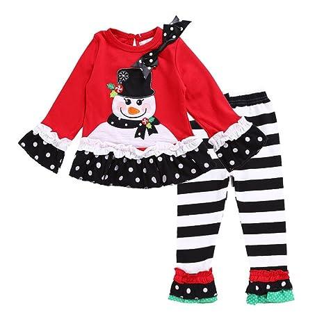 wongfon Niñas Navidad Lunares Fiesta Disfraz Vestido Tutú ...
