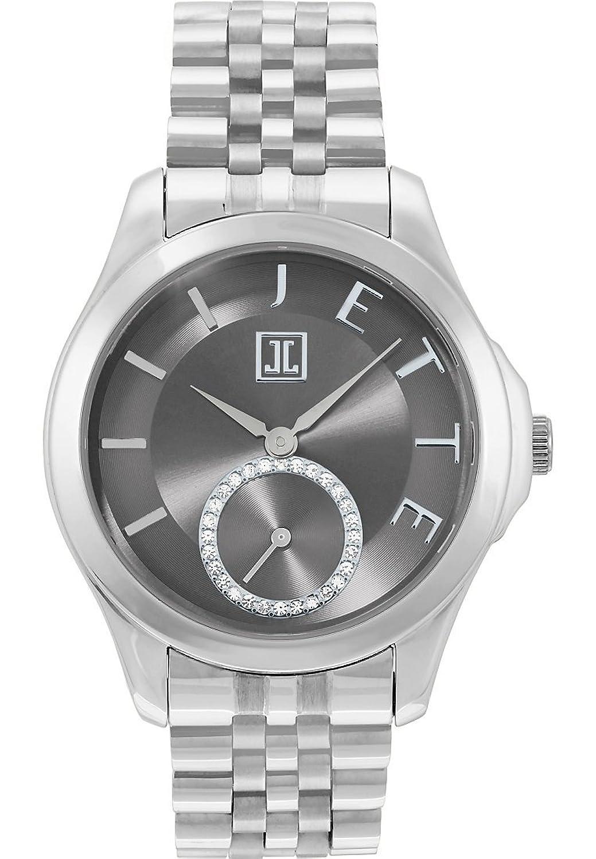 JETTE Time Damen-Armbanduhr Pleasure Edelstahl Analog Quarz One Size - grau - silber