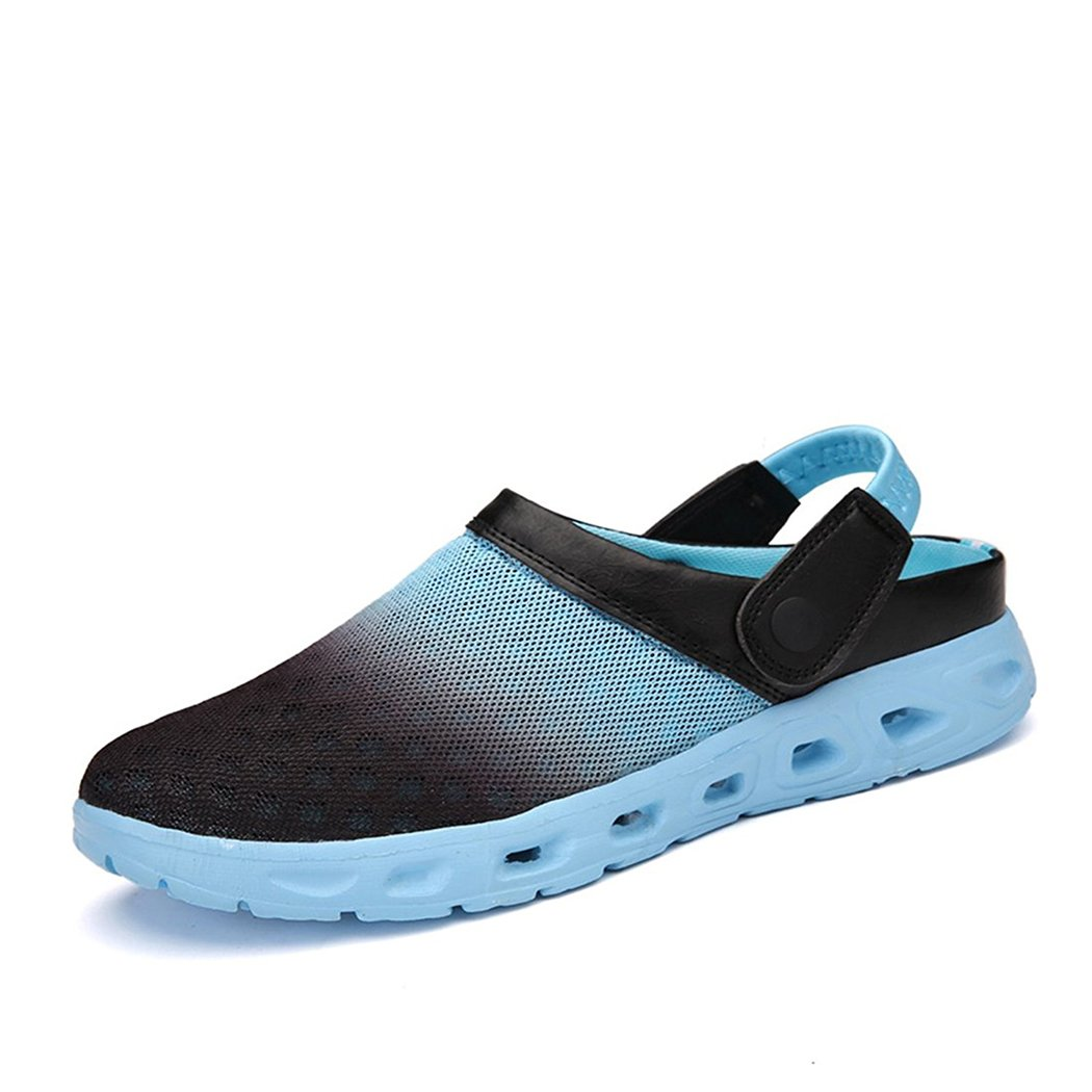 CCZZ Men's and Women's Summer Breathable Mesh Beach Sandals Slippers Quick Drying Water Shoes Amphibious Slip On Garden Shoes B07C2X5YW1 US 8.5=EU 42|Light Blue