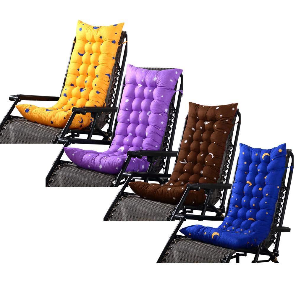 Rubyu Coj/ín de Silla Mecedora Coj/ín de Verano con Respaldo Bajo Tumbonas para Espalda Espalda Coj/ín de Playa de Arena 4 Colores para Silla Mecedora Tumbona, 125 X 48 X 8 Cm