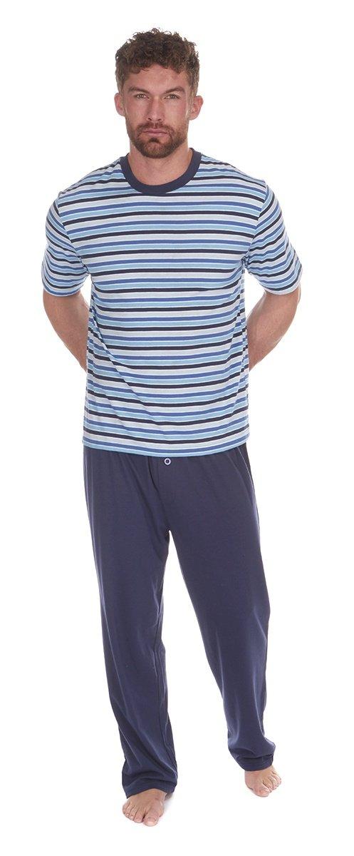 Cargo Bay para Hombre Jersey Lounge Pijama Conjunto con Jacquard Cintura Azul Azul Large: Amazon.es: Ropa y accesorios