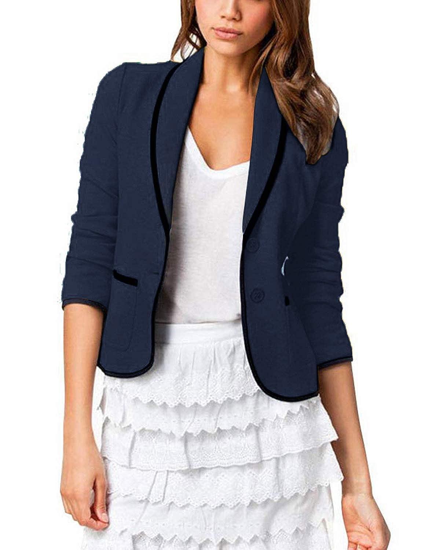 YIPIN Blazer Mujer Chaqueta de Traje Americanas Elegante OL Casual Otoño Slim Fit Oficina Negocios Abrigo