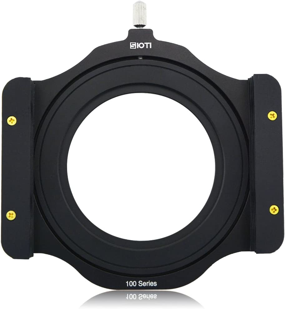 SIOTI 100mm Square Z Series Aluminum Modular Filter Holder + 72mm-77mm Aluminum Adapter Ring for Lee Hitech Singh-Ray Cokin Z PRO 4X4 4x5 4X5.65 Filter(72mm)