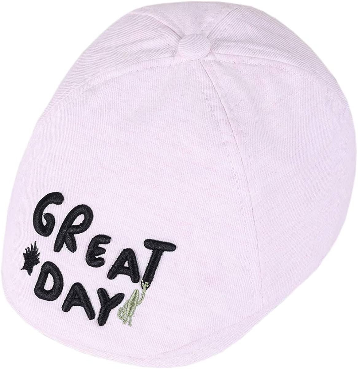 ACVIP Toddler Girls Great Day Slogan Flat Cabbie Cap