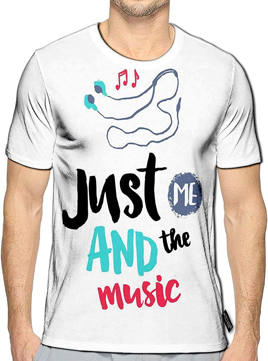 3D Printed T-Shirts Headphones Decor Elements Color Image Just Short Sleeve Tops Tees