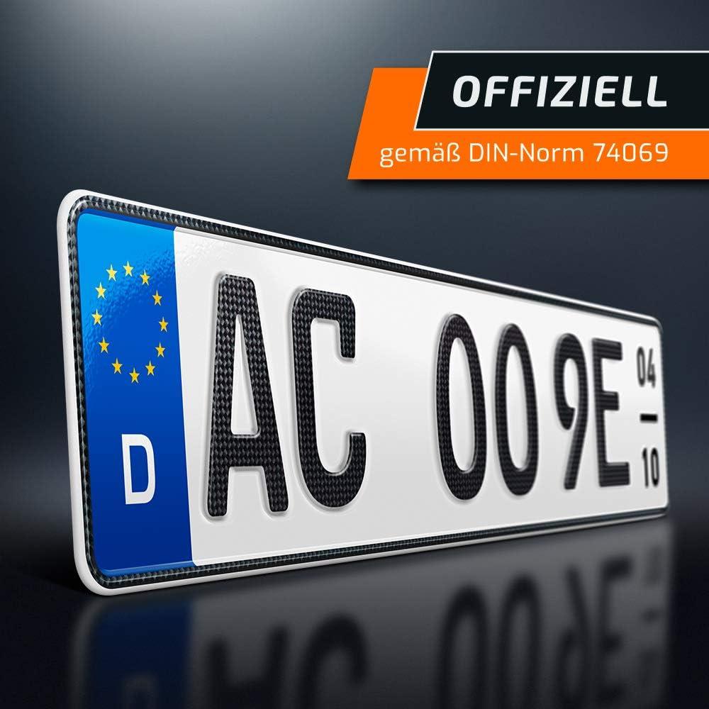 Schildevo 1 Carbon Kfz E Kennzeichen Saison Offiziell Amtliche Nummernschilder Elektroauto Hybrid Auto Autokennzeichen Elektro Auto