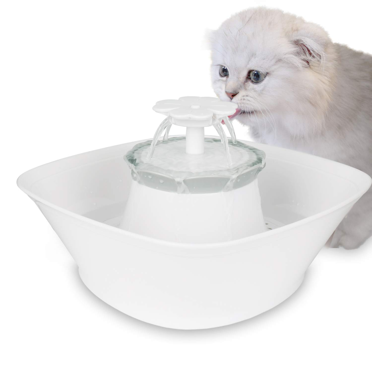 IPETTIE Clover Cat Water Fountain - 2.5L LED Lighted Pet Water Dispenser丨Dual Filters Fresh Clean Water丨Two Way Power丨Ultra Quiet丨LED Lighted for Cats, Dogs, Multiple Pets