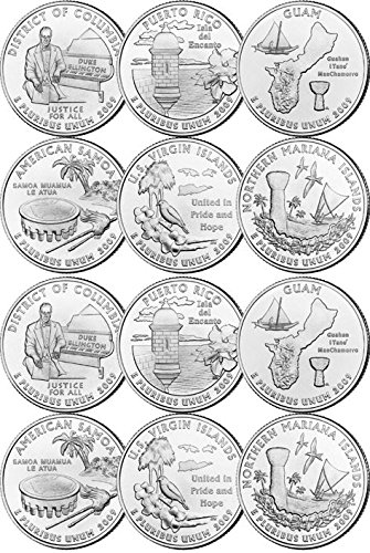 (2009 U.S. Territories Set from both P and D Mints (12 Coins) Uncirculated)