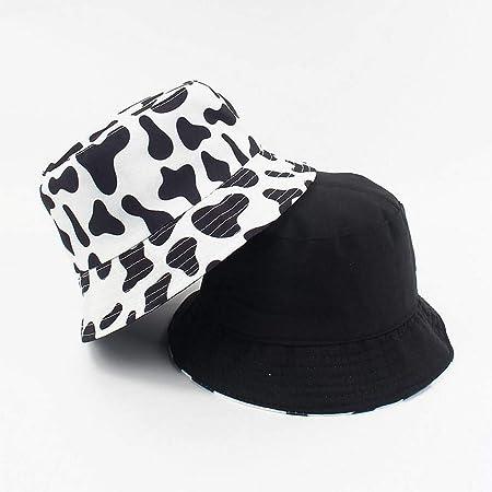 Cows Print NRENRE Unisex Outdoor Travel Sun Bucket Hat Summer Fisherman Cap