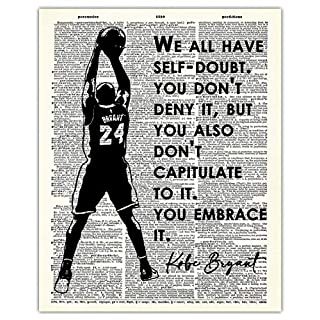 Motivational & Inspirational Kobe Bryant Dictionary Wall Art Print: 8x10 Unframed Poster For Home, Office, Dorm & Bedroom Decor - Great Gift Idea Under $15 for Basketball & Sports Fan, Athlete, Coach