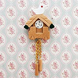 Odoria 1:12 Miniature Vintage Wall Hanging Cuckoo Clock Dollhouse Decoration Accessories