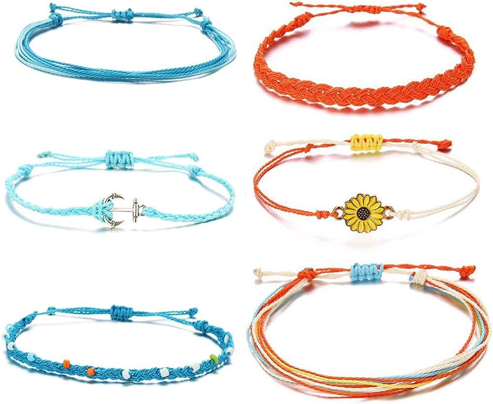 Waterproof Ankle Bracelets Set for Tenn Girl Friendship Anklet Bracelet for Women Hawaii Beach Foot Jewelry